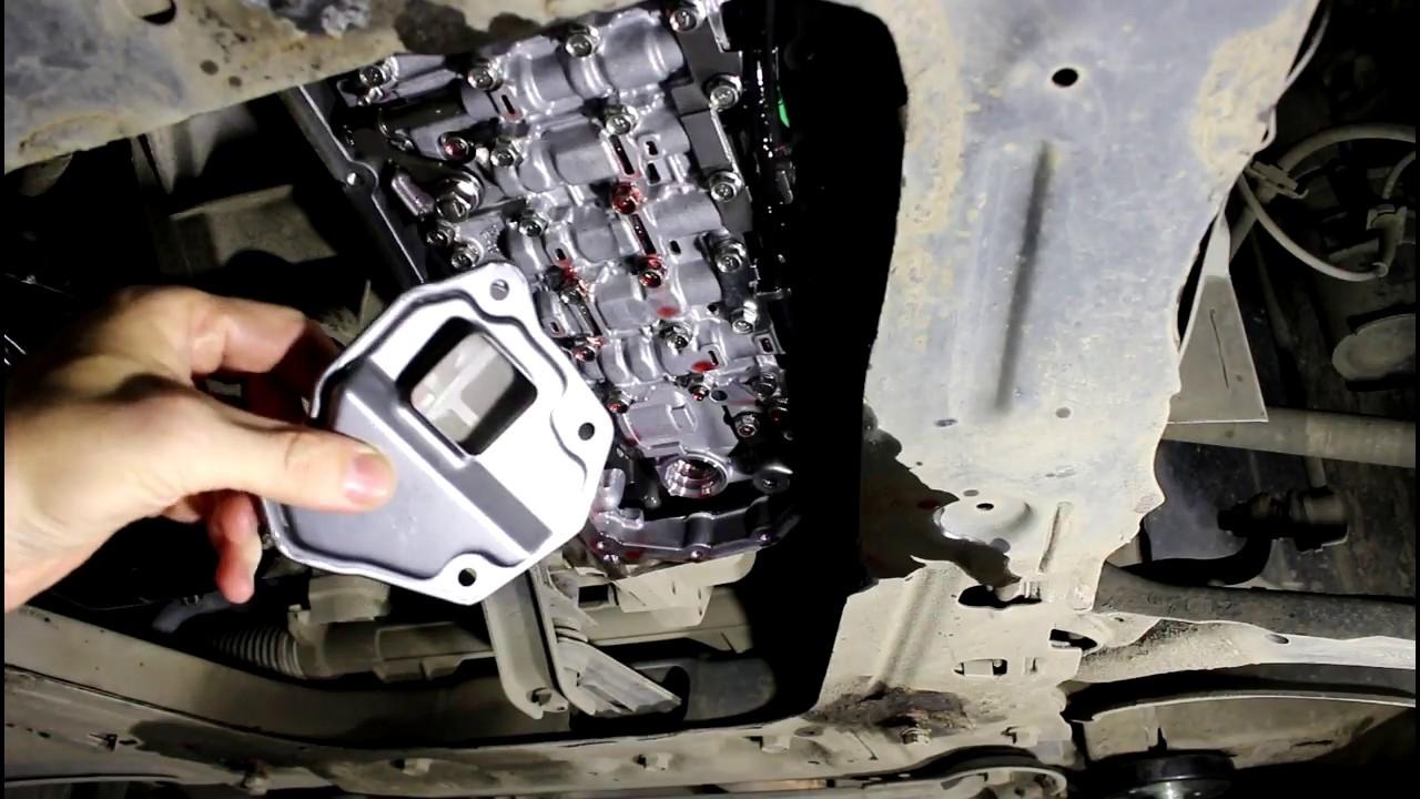 Замена масла и фильтров в вариаторе Nissan Qashqai 2,0 Ниссан Кашкай 2012 года