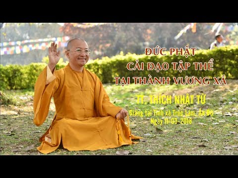 Đức Phật cải đạo tập thể tại thành Vương Xá - TT. Thích Nhật Từ