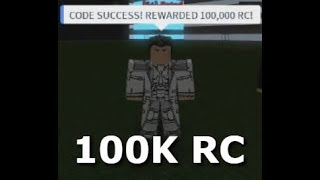 NEW RC CODE 100K RC Rho Ghoul Roblox XD