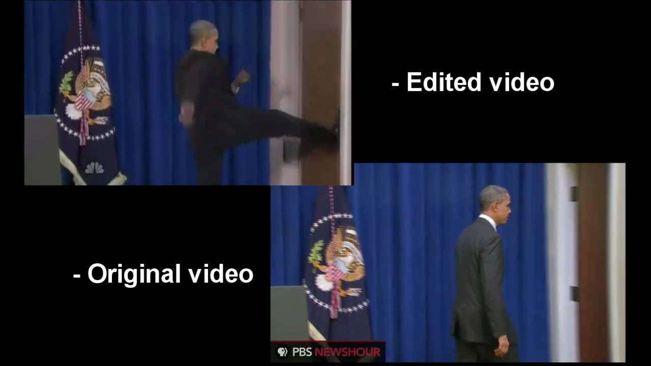 Is This President Obama Kicking Open A Door