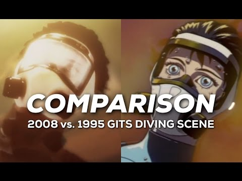 Ghost In The Shell 2008 Vs 1995 Diving Scene Comparison Youtube