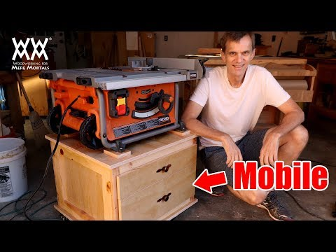 Mobile Tablesaw Cart | Woodworking shop project