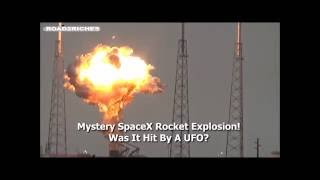 SpaceX Rocket Explosion! Was it Caused By A UFO- Slow Motion