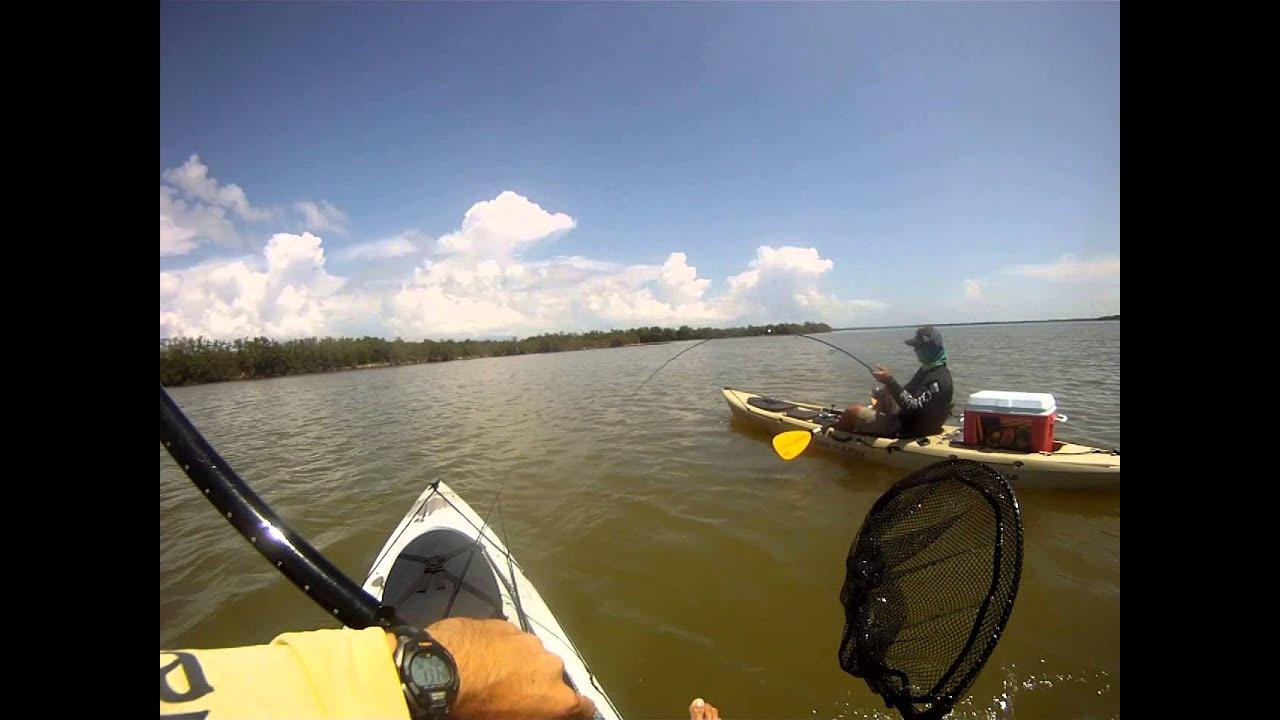 Mosquito lagoon kayak fishing youtube for Mosquito lagoon fishing