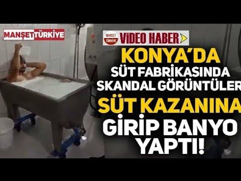 Süt fabrikasında pes dedirten görüntüler: Kazanın içine girip banyo yaptı!