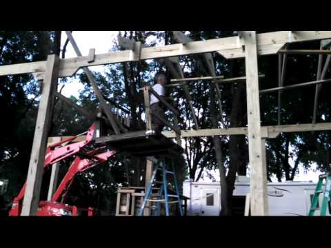 RV carport construction