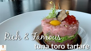 Tuna Toro Tartar For The Rich, Famous and Royalty | $60 Per Pound Fish
