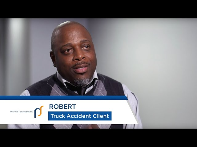 Truck Accident Attorneys Pierce Skrabanek   Truck Accident Survivor Robert