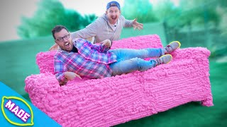 We Made a Couch Out of Expanding Foam!!!