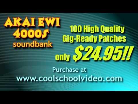 AKAI EWI 4000s NEW INTERNAL SOUND PATCH DEMO