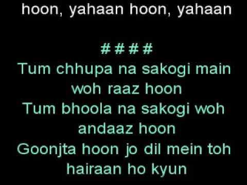 Main Yahaan Hoon Karaoke Veer Zaara Full Song Shahrukh khan preity zinta udit narayan