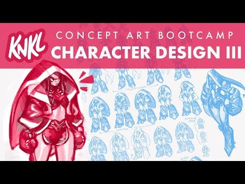 Concept Art BOOT CAMP 9: Character Design III (pro tools for getting a refined concept!)