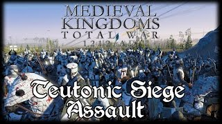 TEUTONIC SIEGE ASSAULT! Total War Attila MEDIEVAL MOD Early Access Gameplay!