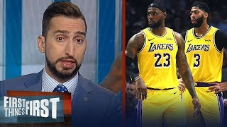 LeBron, Lakers had a poor showing in loss to Clippers - Nick Wright | NBA | FIRST THINGS FIRST