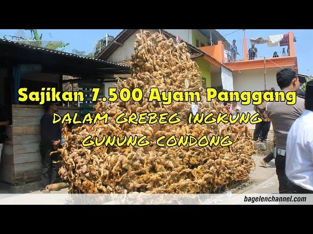 Sajikan 7500 Ayam Panggang dalam Grebeg Ingkung Gunung Condong