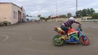 Видео уроки часть 2 (вождение на спорт-байке на мотодроме (категория A)