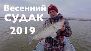 СУДАК КЛЮЁТ НА КАЖДОМ ЗАБРОСЕ!!! Весенний Спиннинг 2019 !Ловля Судака с лодки!Весенний Судак 2019!