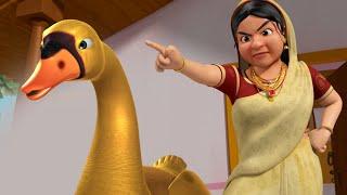 బంగారు ఈకలతో హంస - The Sawn with Golden Feathers | Telugu Stories for Kids | Infobells