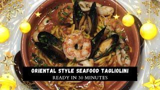 Oriental style seafood tagliol…