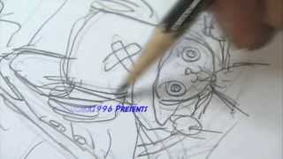 Eiichiro Oda Drawing Luffy and Chopper from ONE PIECE