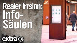 Realer Irrsinn: Info-Säulen in Limburg