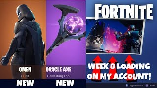 "NEW ""OMEN"" SKIN & ""ORACLE AXE"" AVAILABLE NOW! (Fortnite Battle Royale Live)"
