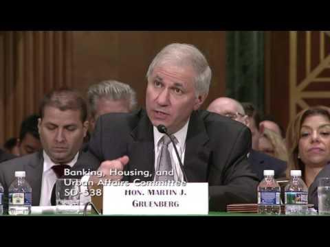 Menendez Asks Banking Regulators about Community Development, Economic Growth & Wall Street Reform