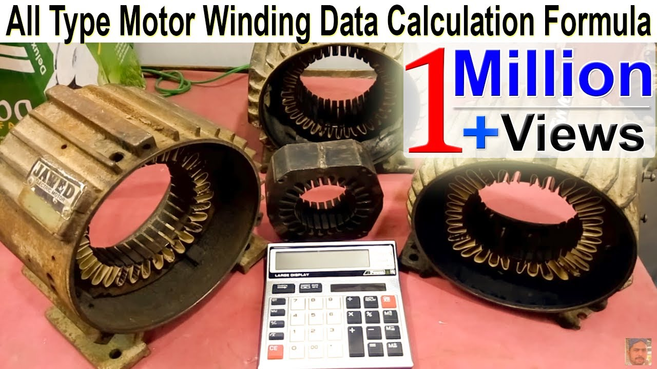 How To Make Motor Winding Formula Calculation Complete Details In One Phase Wiring Hindi Urdu