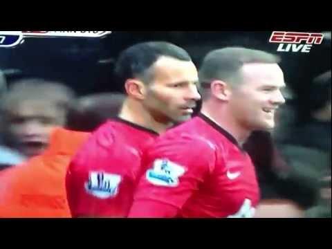 Ryan Giggs Goal Manchester United Vs QPR  2-0 (23-02-2013)