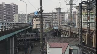 【鉄道動画】堀切橋にて 東武10030系(4+2)通過シーン