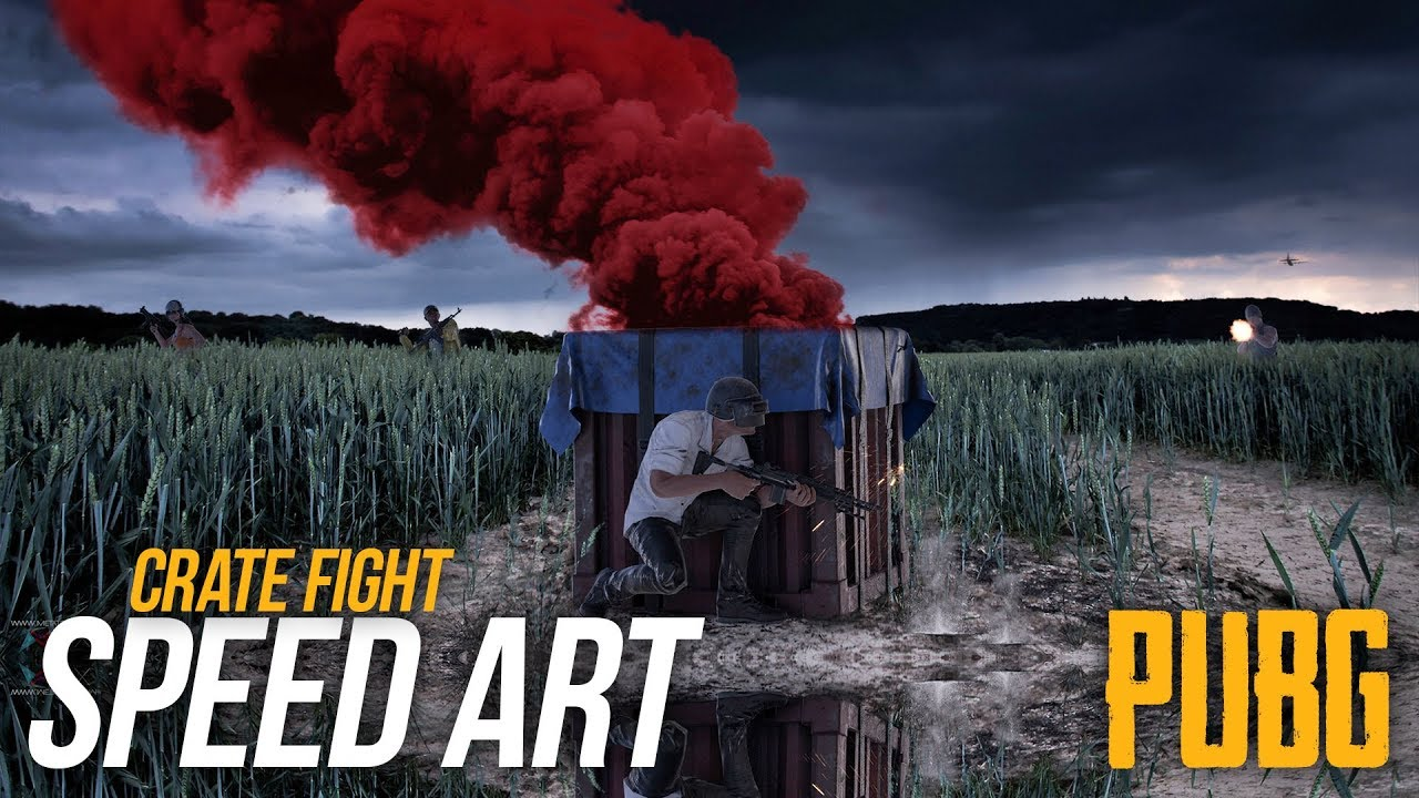 PUBG- Photoshop Speedart - Crate Fight