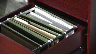 The Hawthorne 4 Drawer Vertical Filing Cabinet Dark Cherry - Product Review Video