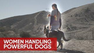 WOMEN HANDLING POWERFUL DOG BREEDS: BLACK BELGIAN MALINOIS