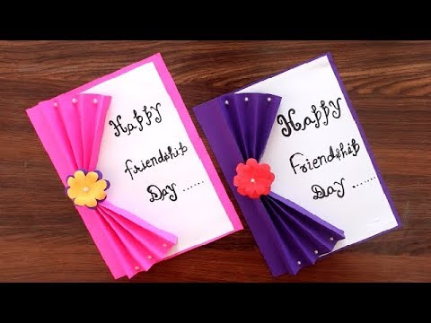 DIY - specially for Friendship Day | very easy multipurpose greeting card idea | Friendship Day Card