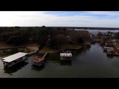 Drone over Cedar Creek Lake
