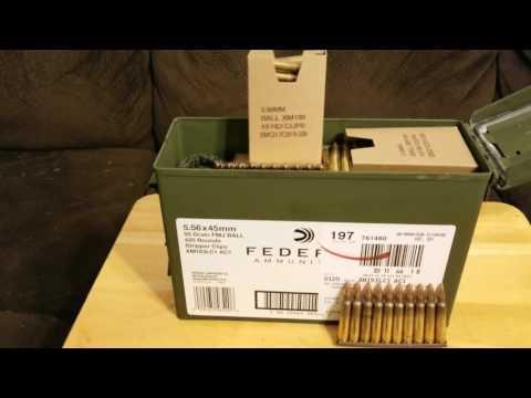 FEDERAL AMMO FMJ BALL. 5.56x45 55 Grain