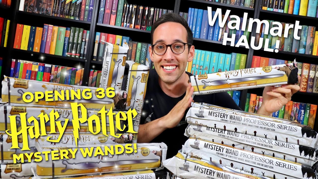 HARRY POTTER HAUL - OPENING 36 SERIES 3 MYSTERY WANDS FROM WALMART