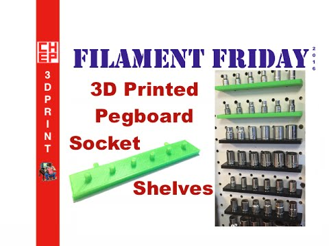 3d printing filament friday 71 ratchet socket shelf for pegboard