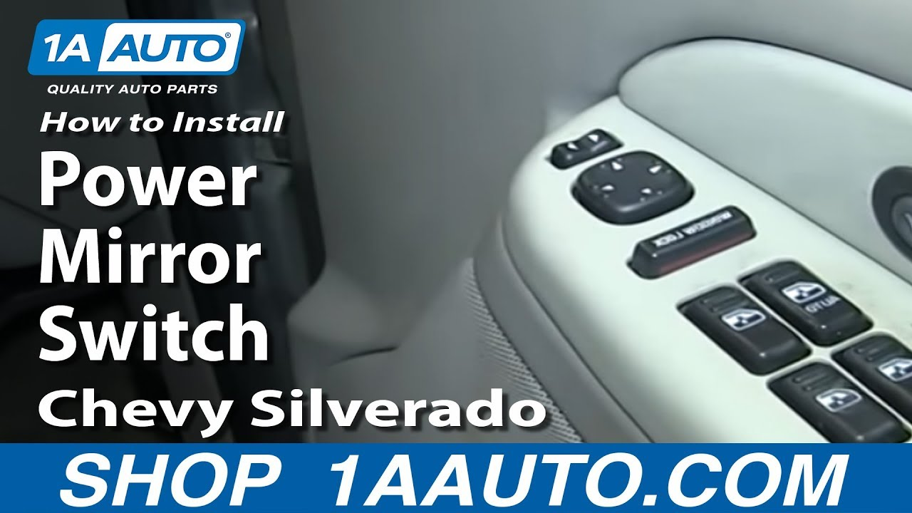 How To Replace Mirror Switch 00 02 Chevy Suburban Youtube