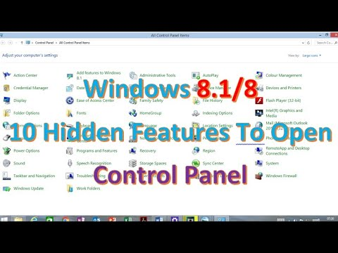 Best 10 Ways To Open Control Panel In Windows 8/8.1