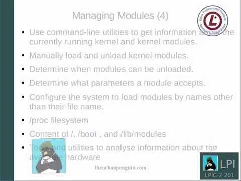 lpic-2-201-kernel-modules