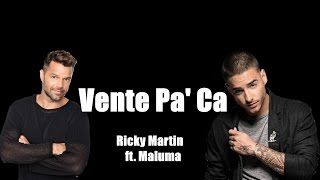 VENTE PA' CA - Ricky Martin ft. Maluma thumbnail