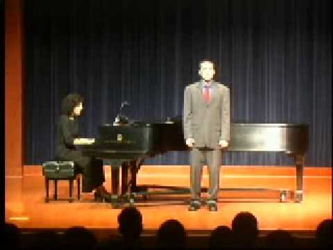 Nathaniel Adams, Tenor, sings Psalm 142 by Ned Rorem