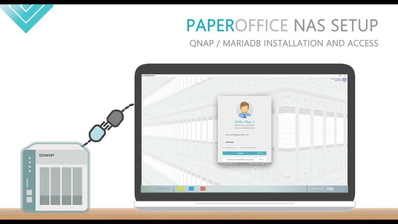 Setup QNAP NAS for PaperOffice Document Management System (DMS)