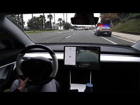POV Drive In A Tesla Model 3