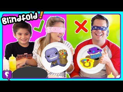BLINDFOLD PANCAKE CHALLENGE with hobbyMom and HobbyDad Part 3