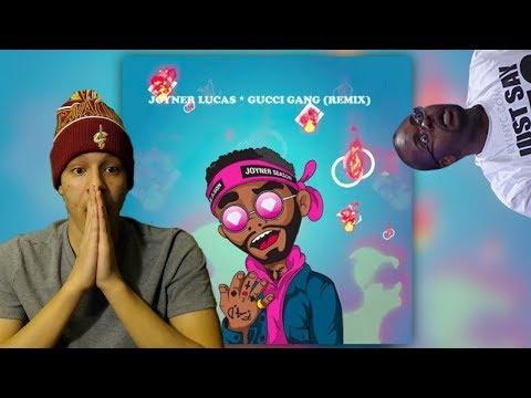 ITS JOYNER'S SONG NOW!   Joyner Lucas- Gucci Gang (Remix)   FIRST REACTION