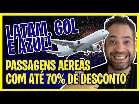 ATÉ 70% DE DESCONTO! AZUL, LATAM E GOL EM PROMOÇÃO RELÂMPAGO NESSA QUINTA FEIRA!