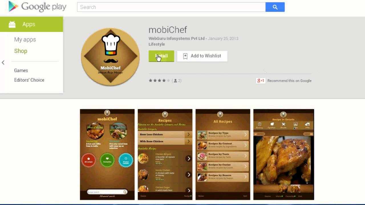 cook book mobile app make your own recipes now youtube