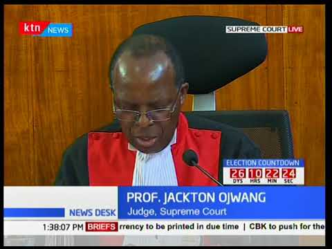 Justice Ojwang' outlines disagreement with majority ruling
